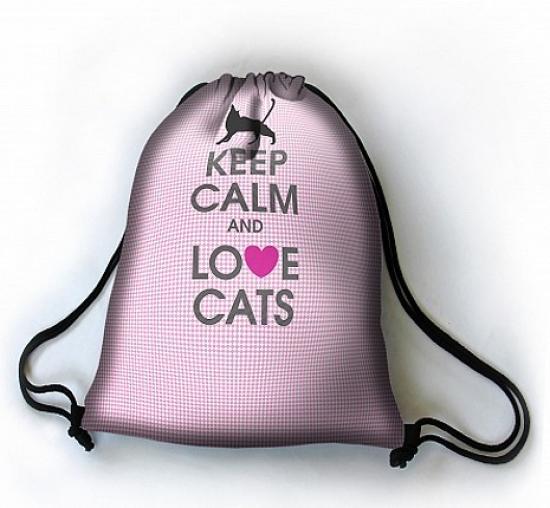 Vak na záda Love cats