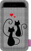 Pouzdro na telefon Kočičí láska