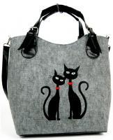 Kabelka Excent kočky s červeným obojkem